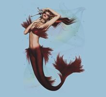 Mermaid of the Deep .. tee shirt by LoneAngel