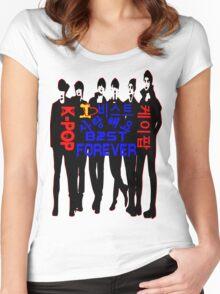♥♫I Love B2ST Forever Splendiferous K-Pop Clothes & Stickers♪♥ Women's Fitted Scoop T-Shirt