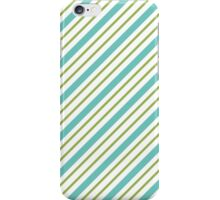 Blue And Green Stripes iPhone Case/Skin