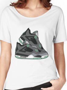 Air Jordan 4 ( Green Glows!) Women's Relaxed Fit T-Shirt