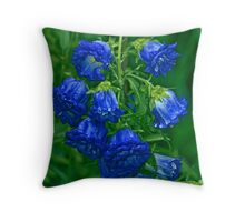 Blues from Paris Throw Pillow