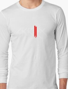 Skrillex logo - White and Red Long Sleeve T-Shirt