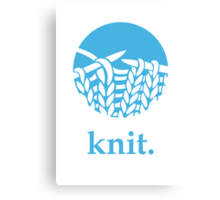 Knit. Canvas Print