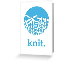 Knit. Greeting Card