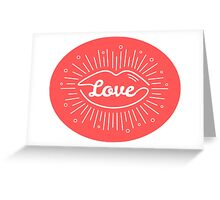 Romantic  illustration Greeting Card