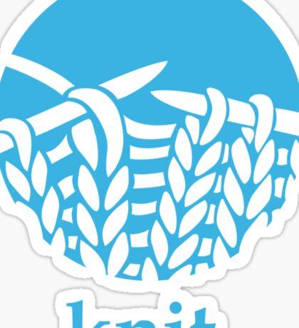 Knit. Sticker