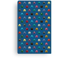 Cool Colorful Megaman Helmet Pattern Canvas Print
