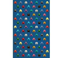 Cool Colorful Megaman Helmet Pattern Photographic Print