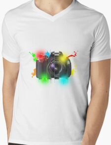 Canon T Shirt Mens V-Neck T-Shirt