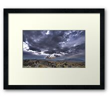 High Desert Lighting Fires Framed Print