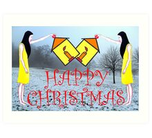 HAPPY CHRISTMAS 50 Art Print
