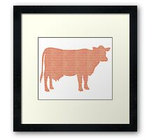 Cow Stamps Framed Print