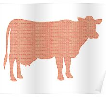 Cow Stamps Poster