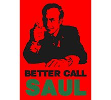 Better Call Saul (Red) Photographic Print
