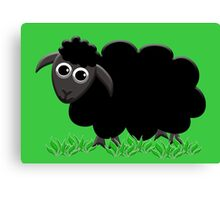 Solo Black Sheep Happy Canvas Print