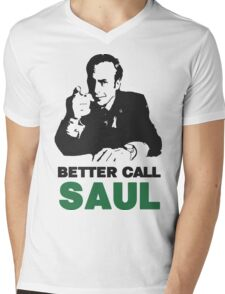 Better Call Saul (Red/Yellow) Mens V-Neck T-Shirt