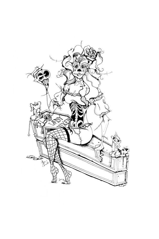 Lady De Los Muertos by Gretchen Braun