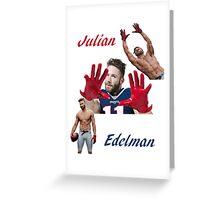 Julian Edelman Greeting Card