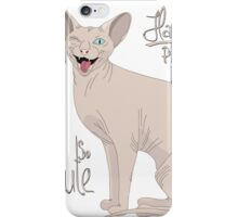 Hairless Pussies are so cute iPhone Case/Skin