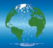 Global Warming Climate Change Earth Prints  by CroDesign