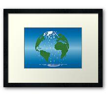 Global Warming Climate Change Earth Prints  Framed Print