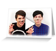 Dan & Phil | YouTube Play Button Greeting Card