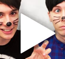 Dan & Phil | YouTube Play Button Sticker
