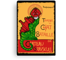 Chat Bataille Canvas Print