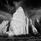 Sandstone Fins - Arches National Park (B/W) by Daniel Owens