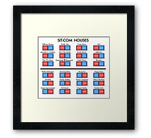 Sitcom Houses Framed Print