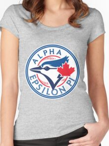AEPi Toronto Blue Jays Women's Fitted Scoop T-Shirt