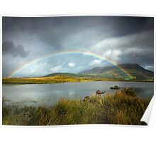 Rainbow over the Skiddaw Massif Poster