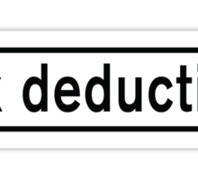 Tax Deduction Sticker