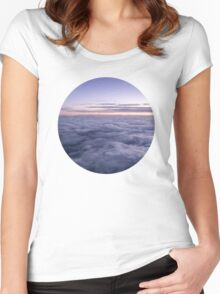 Clouds in the sky Women's Fitted Scoop T-Shirt
