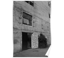 Black and White Photo of Door to Artists' Studio Poster