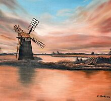 How Hill Windmill by Colin Bedson
