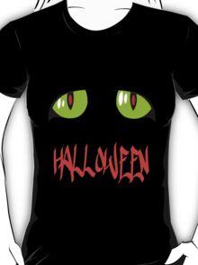 Green Eyes on a Halloween T-shirt T-Shirt