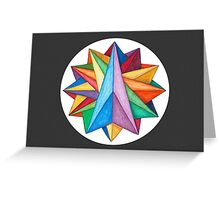 Crystalite Mandala Card w/grey background Greeting Card