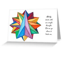 Crystalite Mandala Card w/msg Greeting Card