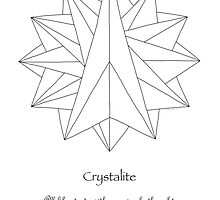 Crystalite Mandala Print - Color Your Own w/msg by TheMandalaLady