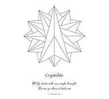 Crystalite Mandala Print - Color Your Own w/msg Photographic Print