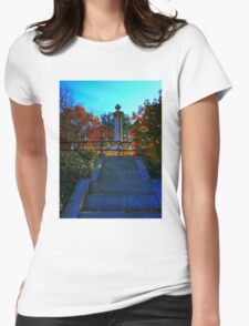 Mount Auburn: Stairs to Heaven Womens Fitted T-Shirt