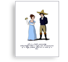 Pride and Prejudice and Tacos Canvas Print