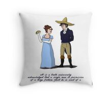 Pride and Prejudice and Tacos Throw Pillow