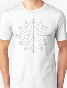 Crystalite Mandala T-Shirt - Color Your Own T-Shirt