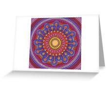 Jewel Drop Mandala Greeting Card