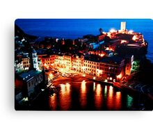 Vernazza By Night Canvas Print