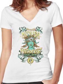 Medusa Rockfest Women's Fitted V-Neck T-Shirt