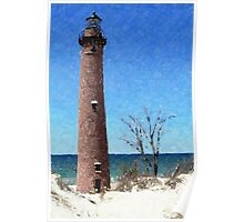 Point Sable Michigan Lighthouse Poster