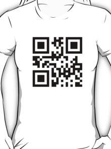 Black Smiley ☻ Happy Face -- QR Code T-Shirt